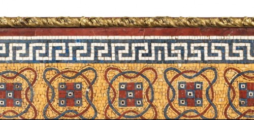 Marble mosaic tray - Italy late 18th early 19th century - Decorative Objects Style