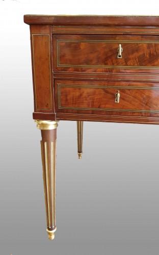 Furniture  - French Louis XVI bureau plat  stamped Henri