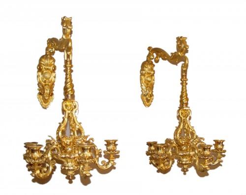 Pair of sconces - Napoleon III period