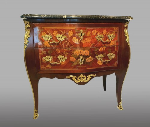 Chest of drawers stamped D.Genty JME - Furniture Style Louis XV