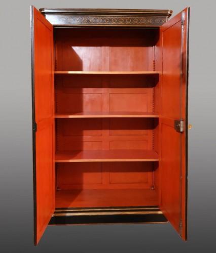 19th century - Lacquer cabinet - Mid XIXth century