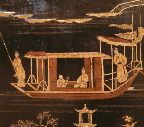 Antiquités - Lacquer cabinet - Mid XIXth century