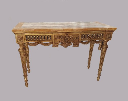 Neoclassical period console - 18th century Italy in the style of Bolgiè - Furniture Style Louis XVI