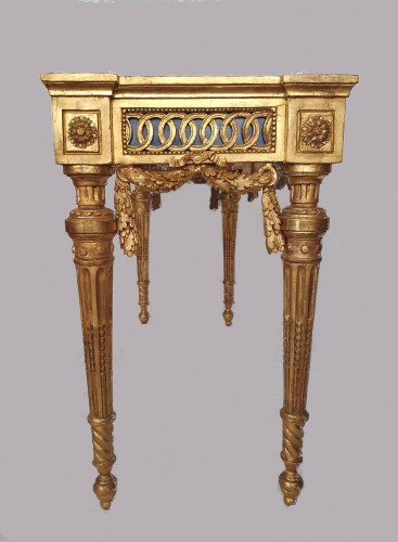 Antiquités - Neoclassical period console - 18th century Italy in the style of Bolgiè