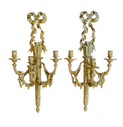 Pair of late 18th century sconces attributed to Ravrio