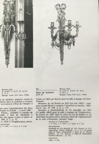 18th century - Pair of late 18th century sconces attributed to Ravrio