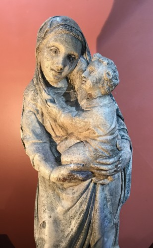 Renaissance - Virgin and Child - Maternity ward in limestone,Northern Italy circa 1520