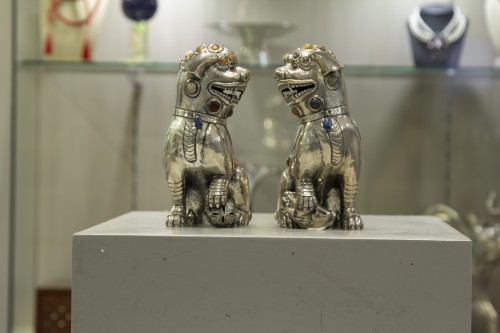 Dogs of Fo  - Luis Ferreira - Antique Silver Style