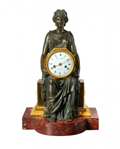 An Empire mantel clock by Thomire & Cie à Paris