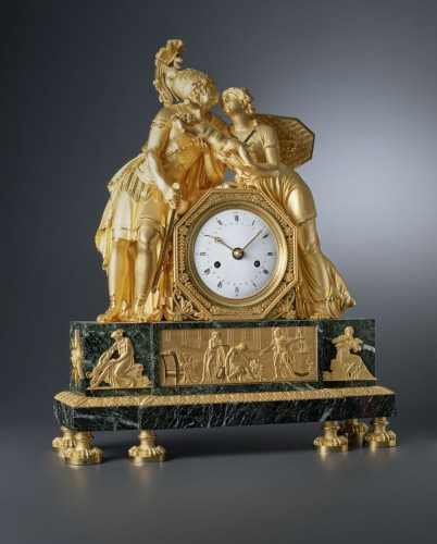 An Empire mantel clock of Hector case attributed to Claude Galle - Horology Style Empire