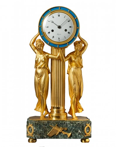An Empire mantel clock by Lepaute Oncle & Nevue