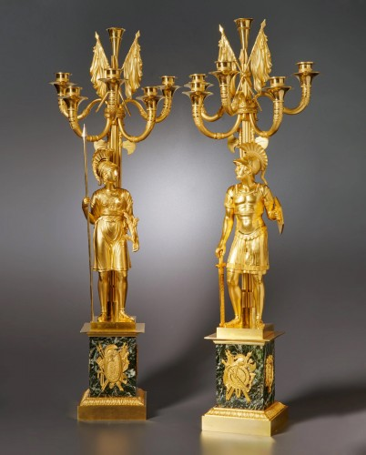 A pair of Empire six-light candelabra attributed to Claude Galle - Lighting Style Empire