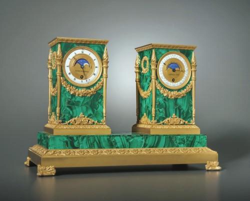 An Empire astronomical clock, signed LESIEUR A PARIS ANNEE 1819 - Horology Style Empire