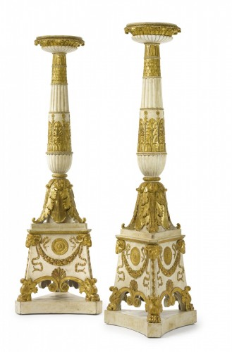 A pair of large Empire torchères after a design by Percier and Fontaine