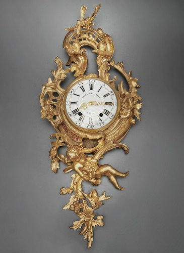 A Louis XV gilt bronze cartel clock by Charles Baltazar - Horology Style Louis XV