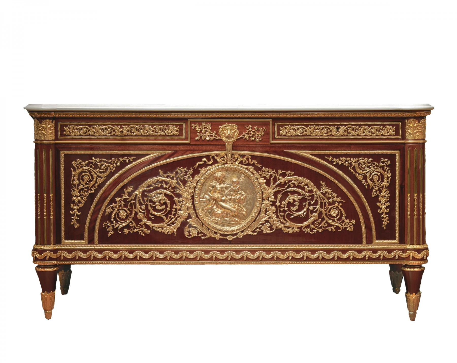 A French late 19th/early 20th century commode a vantaux after Benneman -  Ref.85995Anticstore