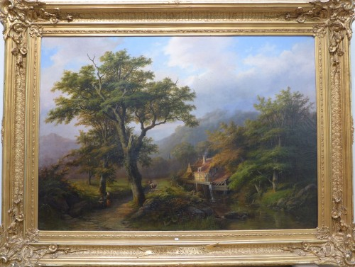 """Romantic Landscape"" by Anna van Sandick (1818 - 1904) - Paintings & Drawings Style"