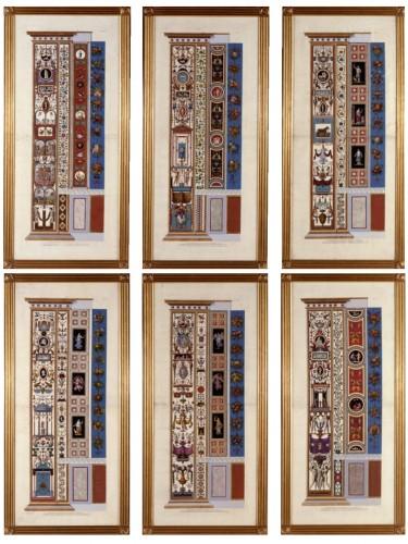 Six copper plate engravings by de Giovanni Ottaviani