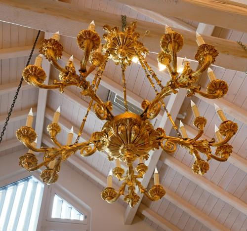 A Russian early nineteenth century gilt bronze twenty-five light chand - Lighting Style Restauration - Charles X