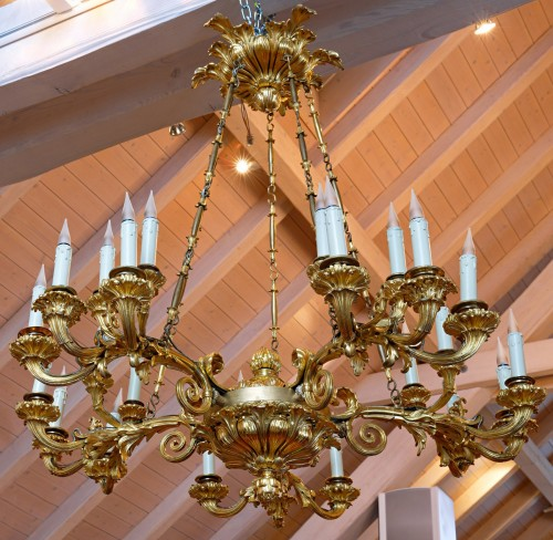 Lighting  - A Russian early nineteenth century gilt bronze twenty-five light chand