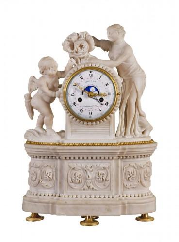 A Louis XVI gilt bronze mantel clock, signed Arthaults Le Jeune