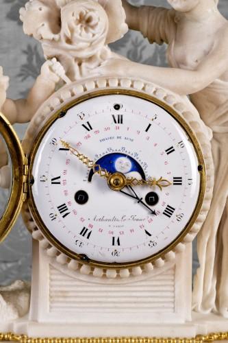 A Louis XVI gilt bronze mantel clock, signed Arthaults Le Jeune  - Horology Style Louis XVI