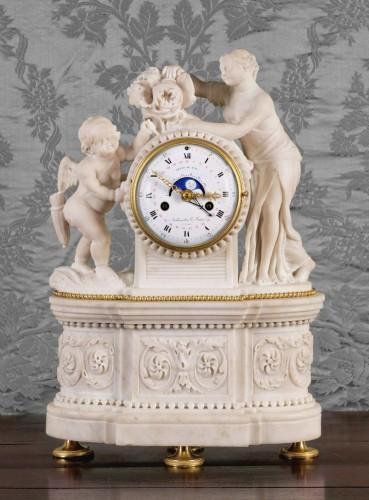 Horology  - A Louis XVI gilt bronze mantel clock, signed Arthaults Le Jeune