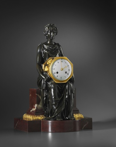 An Empire marble clock, attributed to Pierre-Philippe Thomire - Horology Style Empire