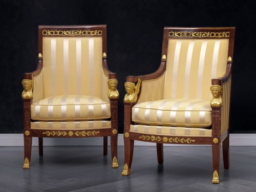 A suite of Restauration seating furniture by Etienne-François Quenne - Seating Style Restauration - Charles X