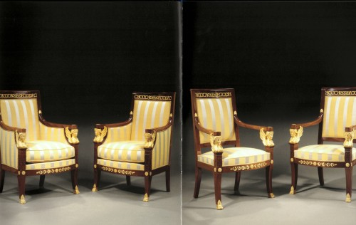 Restauration - Charles X - A suite of Restauration seating furniture by Etienne-François Quenne