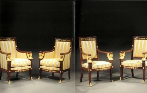 Antiquités - A suite of Restauration seating furniture by Etienne-François Quenne