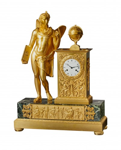 An Empire figural clock, by Picnot Père à Paris
