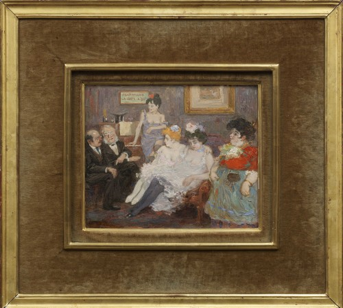 Champagne, la coupe 050 c . - attributed to Jean-Louis Forain,  (1852 - 1931) - Paintings & Drawings Style Napoléon III