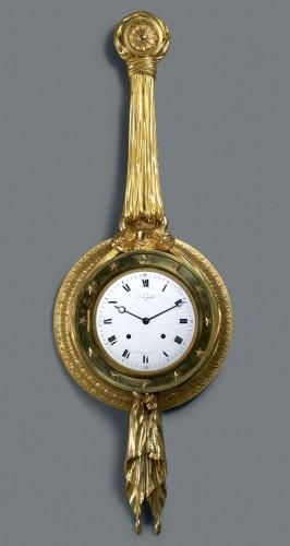 A Directoire gilt bronze cartel clock du Congrès by J. J. Lepaute - Horology Style Directoire