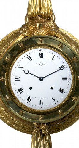 Horology  - A Directoire gilt bronze cartel clock du Congrès by J. J. Lepaute
