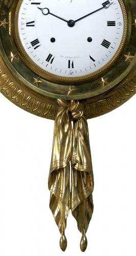 18th century - A Directoire gilt bronze cartel clock du Congrès by J. J. Lepaute