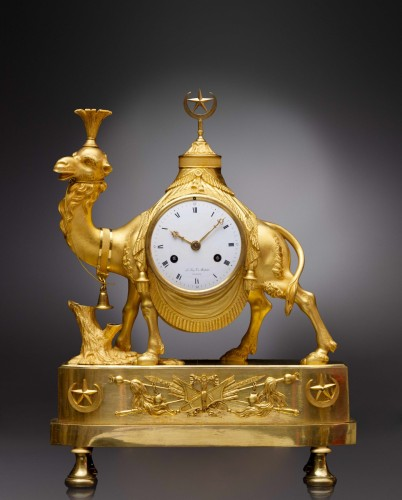 An Empire gilt bronze pendule 'au dromadaire' by Basile-Charles Le Roy - Horology Style Empire