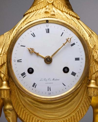 Horology  - An Empire gilt bronze pendule 'au dromadaire' by Basile-Charles Le Roy