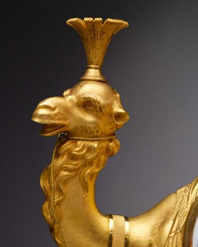19th century - An Empire gilt bronze pendule 'au dromadaire' by Basile-Charles Le Roy
