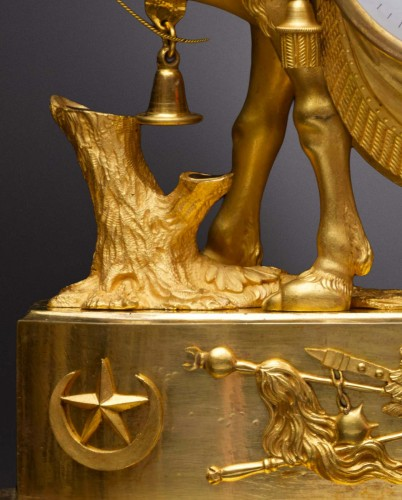 An Empire gilt bronze pendule 'au dromadaire' by Basile-Charles Le Roy - Empire