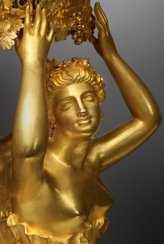 Lighting  - An Empire gilt bronze centrepiece attributed to Pierre-Philippe Thomire