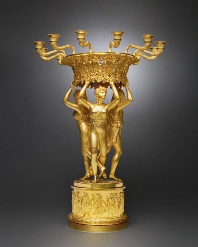 19th century - An Empire gilt bronze centrepiece attributed to Pierre-Philippe Thomire