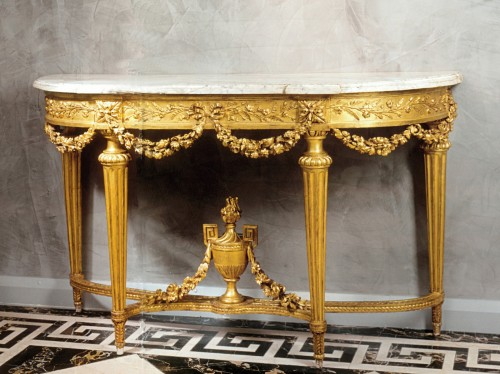A Louis XVI giltwood console table by Etienne Epaulard - Furniture Style Louis XVI