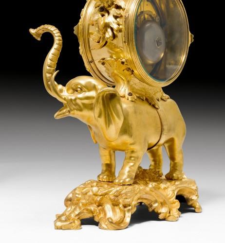 Horology  - A Louis XV gilt bronze Pendule 'À L'Éléphant by Jean Moisy