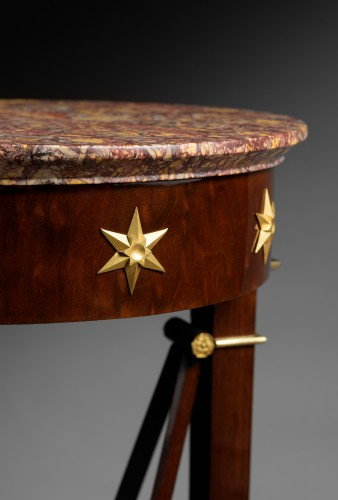 Furniture  - A pair of Empire of pedestal sellettes attributed to Jacob-Desmalter et Cie