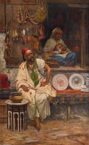 Oriental Bazaar - José Echena (1844 - 1912)