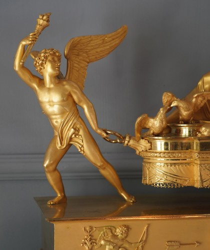 An Empire gilt bronze chariot clock by Louis Moinet case by Thomire - Horology Style Empire
