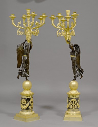A pair of Empire six-light candelabra attributed to Pierre-Philippe Thomire - Lighting Style Empire