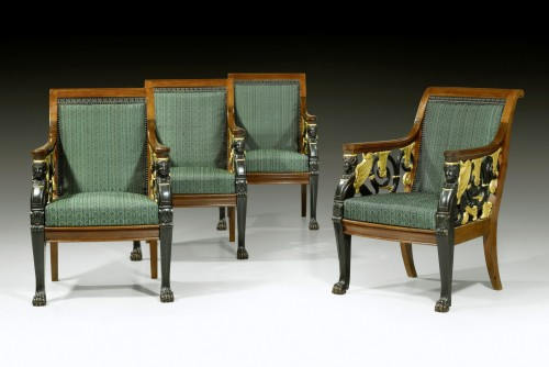 Seating  - A set of four Russian Empire open fauteuils