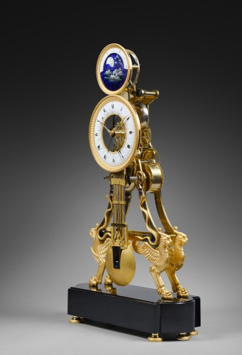 A large Directoire/Empire skeleton clock of month duration - Horology Style Directoire